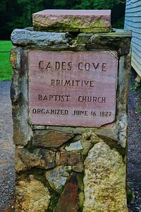 Cades Cove Primitive Baptist Church   Camera: Nikon D3s, 24-85mm f2.8 lens, Moose Peterson Circular polarizing + warm filter, Gitzo tripod + Arca Swiss ball head; ISO at 200