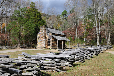 The John Oliver cabin. One of the first settlers of the Cades Cove area.