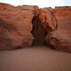 The entrance to Antelope Canyon.