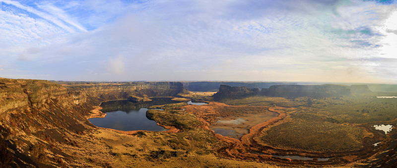 Sun Lakes-Dry Falls in an Autumn Haze
