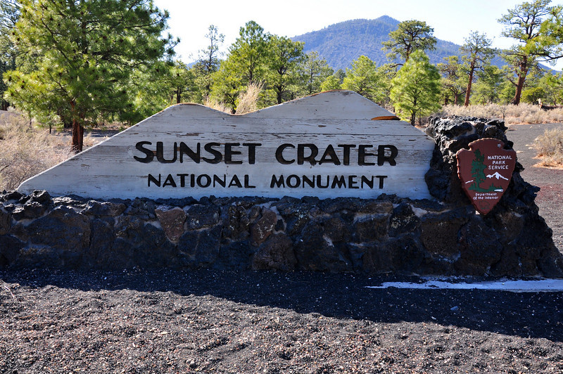 Sunset Crater Volcano National Monument entrance