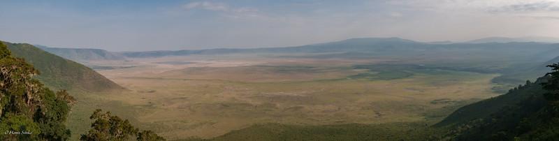 Panorama view of Ngorongoro Crater