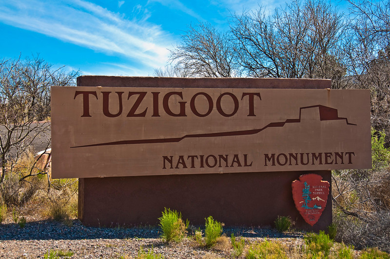 Tuzigoot National Monument entrance