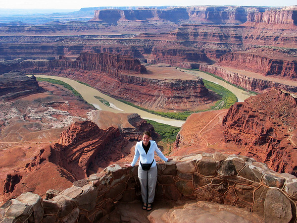 Dead Horse Point. This is where Thelma and Louise dropped over the canyon rim in the movie!