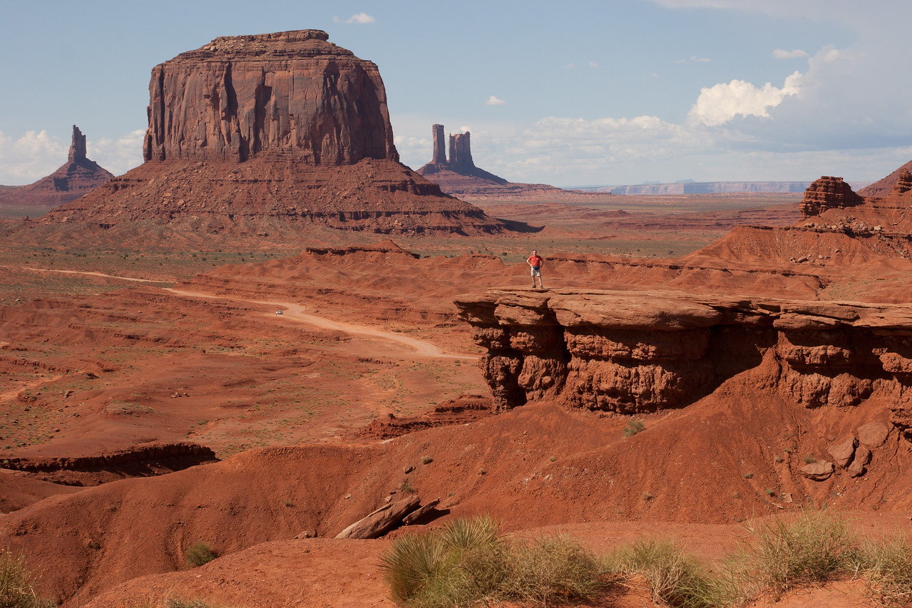 Monument Valley. John Ford point (named after the famous director who shot several movies here). Photo was taken by the Navaho guide.