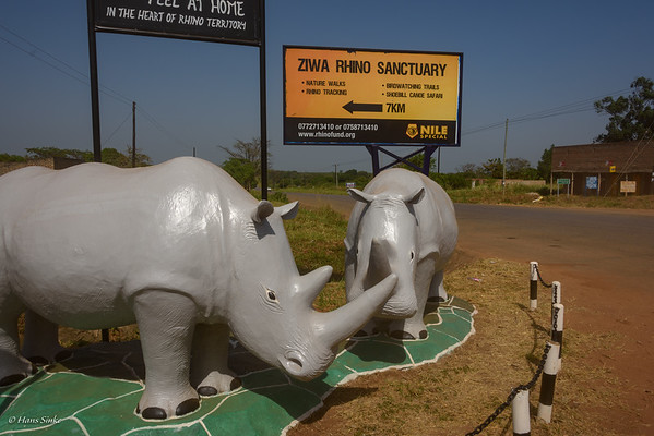 Signpost for  Ziwa Rhino Sanctuary