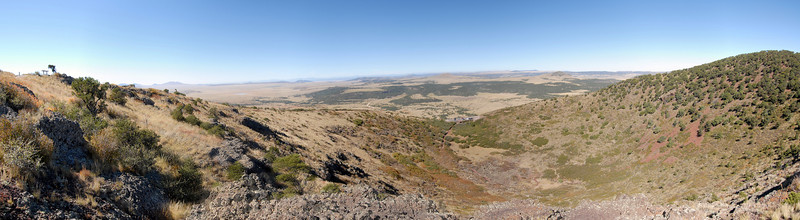 The cone from the top of the Mount Capulin trail around the rim.
