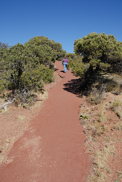 The trail around the rim of the Mount Capulin volcano.