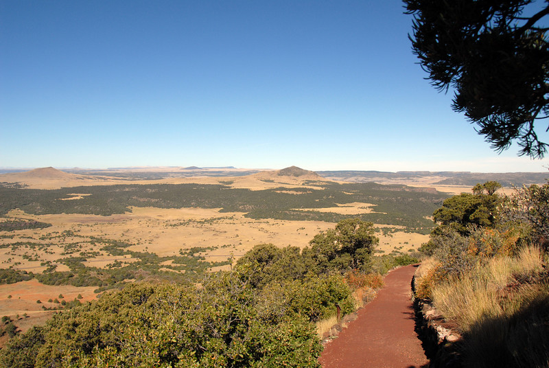 View from the rim trail on Mount Capulin
