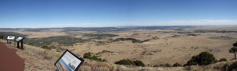 View from the top of Mount Capulin