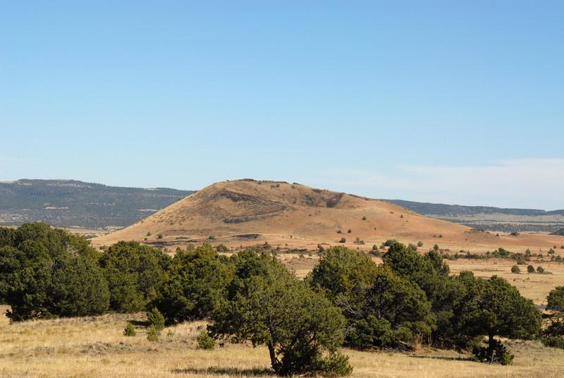 Volcano crater near Mount Capulin