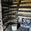 Log hut interior