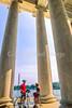 Bikers at Jefferson Memorial on Tidal Basin - 12 - 72 ppi