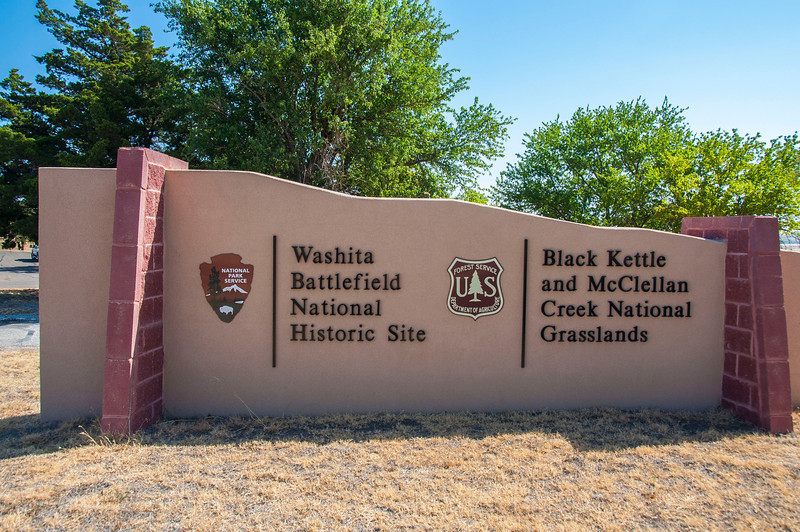 Washita Battlefield National Historic Site entrance