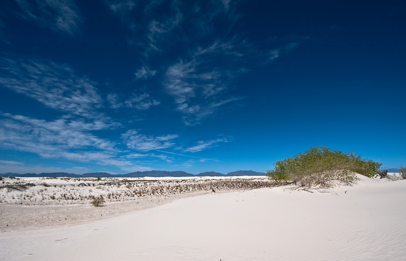 Wideangle View showing the mountains to the west of the Dunes