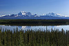 Mount Sanford, Mount Wrangell, and reflections