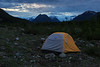 Camping in the Root Glacier base camp