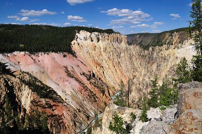 Yellowstone River and Canyon walls