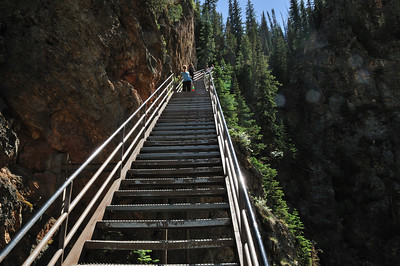 Some of the 328 stairs of Uncle Tom's Trail