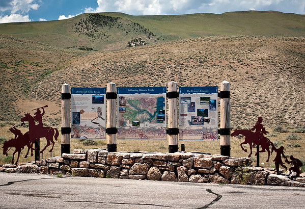 Entrance into the Chief Joseph Scenic By-way and recognition of the Nez Perce Indians who inhabited this area.