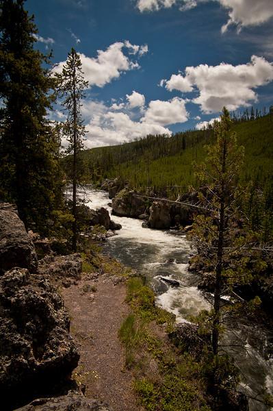 Firehole River, along the Fire Canyon Drive.