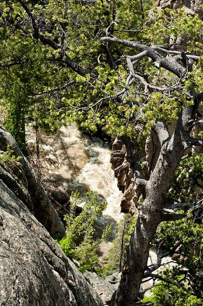 Bridge overlook of the gouge on Chief Joseph Scenic By-way.