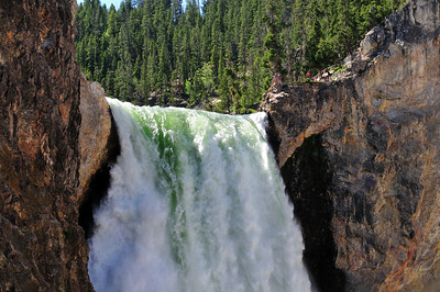 Close up of Lower Falls