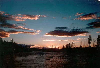 Madison River at sunset.