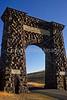 Yellowstone Nat  Park - Roosevelt Arch at North (Gardiner) Entrance - 72 dpi