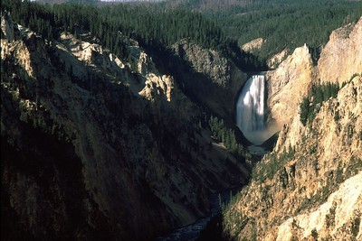 This is Lower Yellowstone Falls and the Grand Canyon of the Yellowstone.