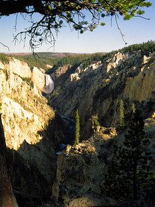 Lower Yellowstone Falls from overlook