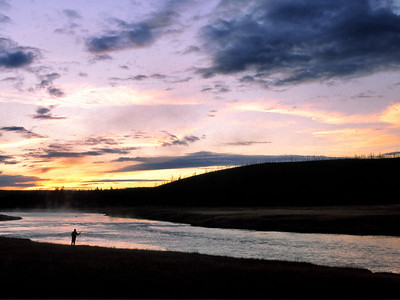 Fishing the Firehole at sundown