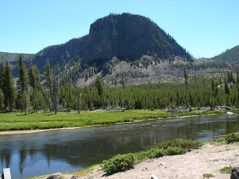 Mountain Along the River