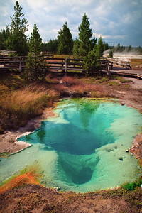 black pool area; west thumb @ Yellowstone National Park