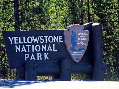 West Yellowstone entrance gate