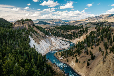 Calcite Springs And Yellowstone River