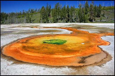 Chromatic Pool, Upper Geyser Basin, Yellowstone National Park