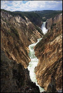 Lower Falls and Grand Canyon of the Yellowstone, Yellowstone National Park
