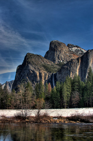 Bridal Veil across Merced River