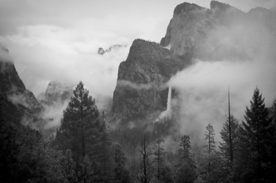 Yosemite Valley in fog