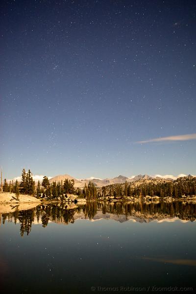 High Sierras in Starlight