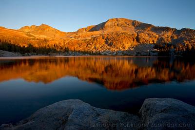 Sunset at Lower Ottoway Lake, Yosemite NP