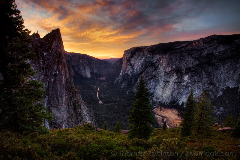"""The Four Mile trail climbs from Yosemite valley floor switch-backing past the spires of Sentinel Peaks and over to Glacier Point. <br /> <br /> """"Everyone needs beauty as well as bread, places to play in and pray in where nature may heal and cheer and give strength to body and soul alike"""" - John Muir, 1869"""
