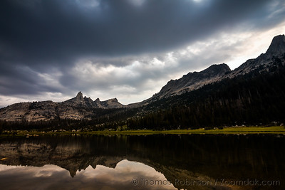 Stormy Skies Over Echo Lakes and Matthes Crest