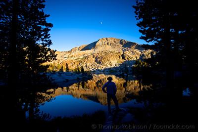 Sunset Silhouette at Lower Ottoway Lake, Yosemite NP