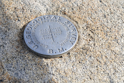 Geological survey marker at Taft Point