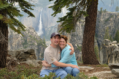 Us in front of Yosemite Falls