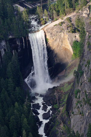 Vernal Falls from Glacier Point overlook