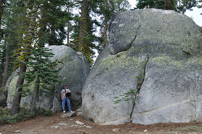 """House-sized"" rocks on the Sentinel Dome trail"