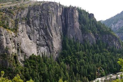 A granite cliff wall in Yosemite